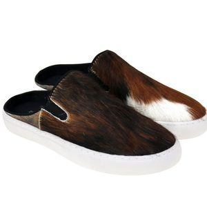 Montana West Genuine Hair Calf Collection Sneaker